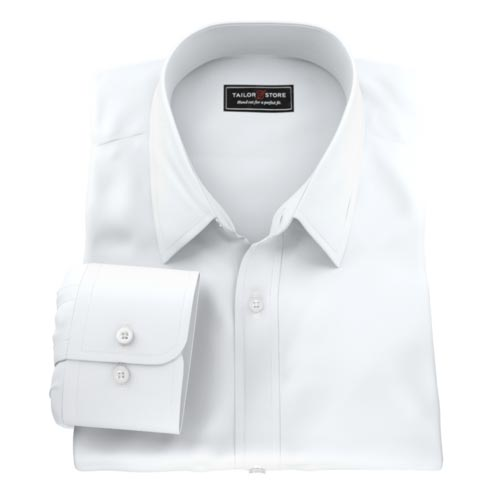 Wrinkle free, easy care mens custom tailored made to measure shirt.